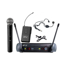 무료 배송 최고 품질 ETJ PGX24 SM 58 BETA 58 58A 타입 무선 시스템 가라오케 전문 마이크 스테이지 KTV DJ