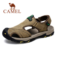 CAMEL Summer Men's Sandals Casual Outdoor Beach Shoes Genuine Leather Men Sandals Man chaussure homme Male Flats
