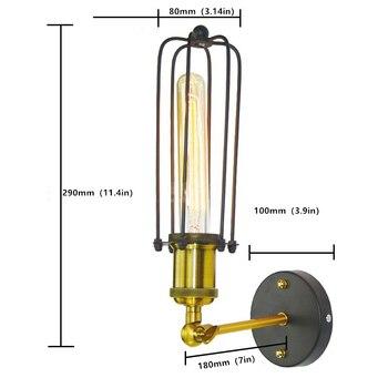 Loft retrò lampada creativo gabbia di Ferro E27/E26 applique da parete sala da pranzo ristorante corridoio corridoio pub cafe lampada da parete reggiseno riparo della parete