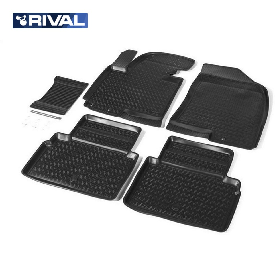 For Hyundai ix35 2010-2016 loor mats into saloon 5 pcs/set Rival 12304001 цена