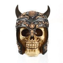 MRZOOT Resin Craft Statues For Decoration Skull Helmet Figurines Home Accessories