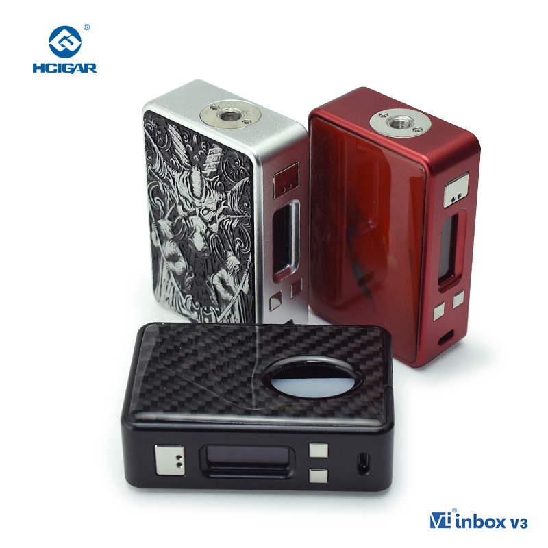 Hcigar VT Inbox V3 75W TC APV Squonker Mod Fiber Panel Vaporizer DNA75 Chip Powered 18650