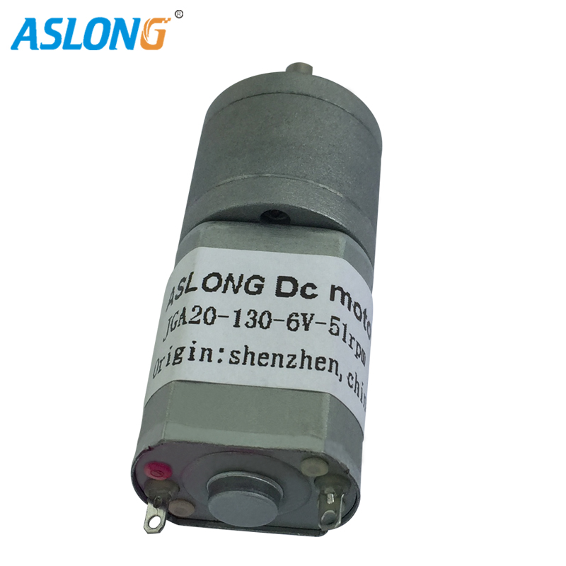 JGA20-130 6v 12V DC Motor Motor With Metal gear box motor output speed from 14Rpm to 380 Rpm