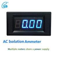 YB5135AI ac ammeter معزولة ثلاثة ونصف متر الحالي اختبار عرض led الرقمية ac متر الحالي أمبير الأزرق الكلمات