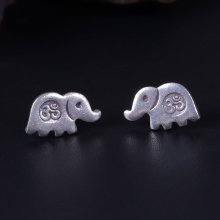 25e433227 Fashion 925 silver Om symbol stud earrings vintage elephant god earring  Indian buddhist meditation jewelry drop
