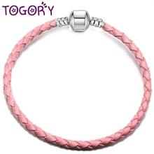 TOGORY, 20 видов стилей, кожаная цепочка, браслеты с подвесками, сделай сам, тонкие браслеты, браслеты для женщин, ювелирное изделие, подарок, Прямая поставка