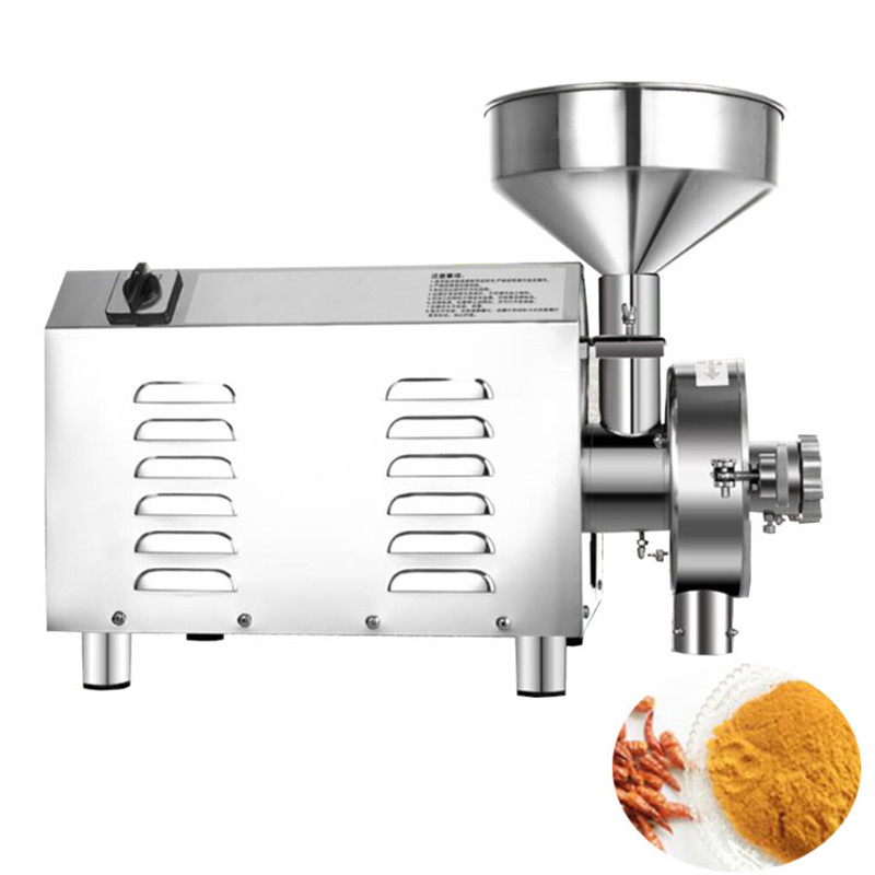 2200W grain flour mill commercial Chinese medicine powder grinding machine chili corn grinding and crushing machine цена