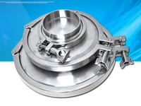 Free shipping 6'' 159MM OD Sanitary TriClamp Ferrule + End Cap + Tri Clamp + Silicon Gasket