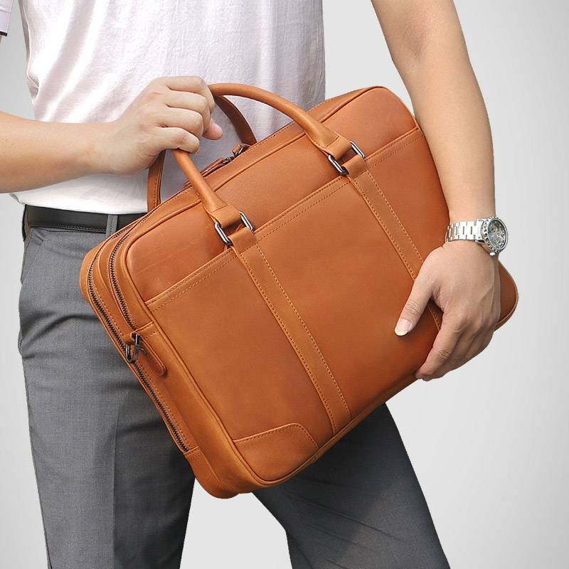 Mens Briefcase Cow Leather  Business Travel Vintage 15 Laptop Bags Brand Designer Large Capacity Shoulder Hand Bag Tote Bags  Mens Briefcase Cow Leather  Business Travel Vintage 15 Laptop Bags Brand Designer Large Capacity Shoulder Hand Bag Tote Bags