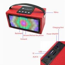 Portable Bluetooth Speaker Outdoor Wireless Sound System Super Bass LED Lights Soundbox 3D Stereo Music Loudspeaker