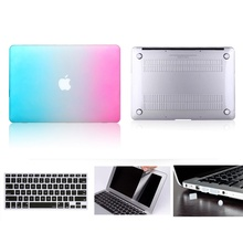 For MacBook 11 Hard Case , For Air 11 Pro Reitna Touchbar 11 12 13 15 Hard Case Cover+Keyboard Cover+Screen protector+Dust Plugs mr northjoe ultra slim crystal hard case keyboard cover anti dust plug set for macbook air 11 6