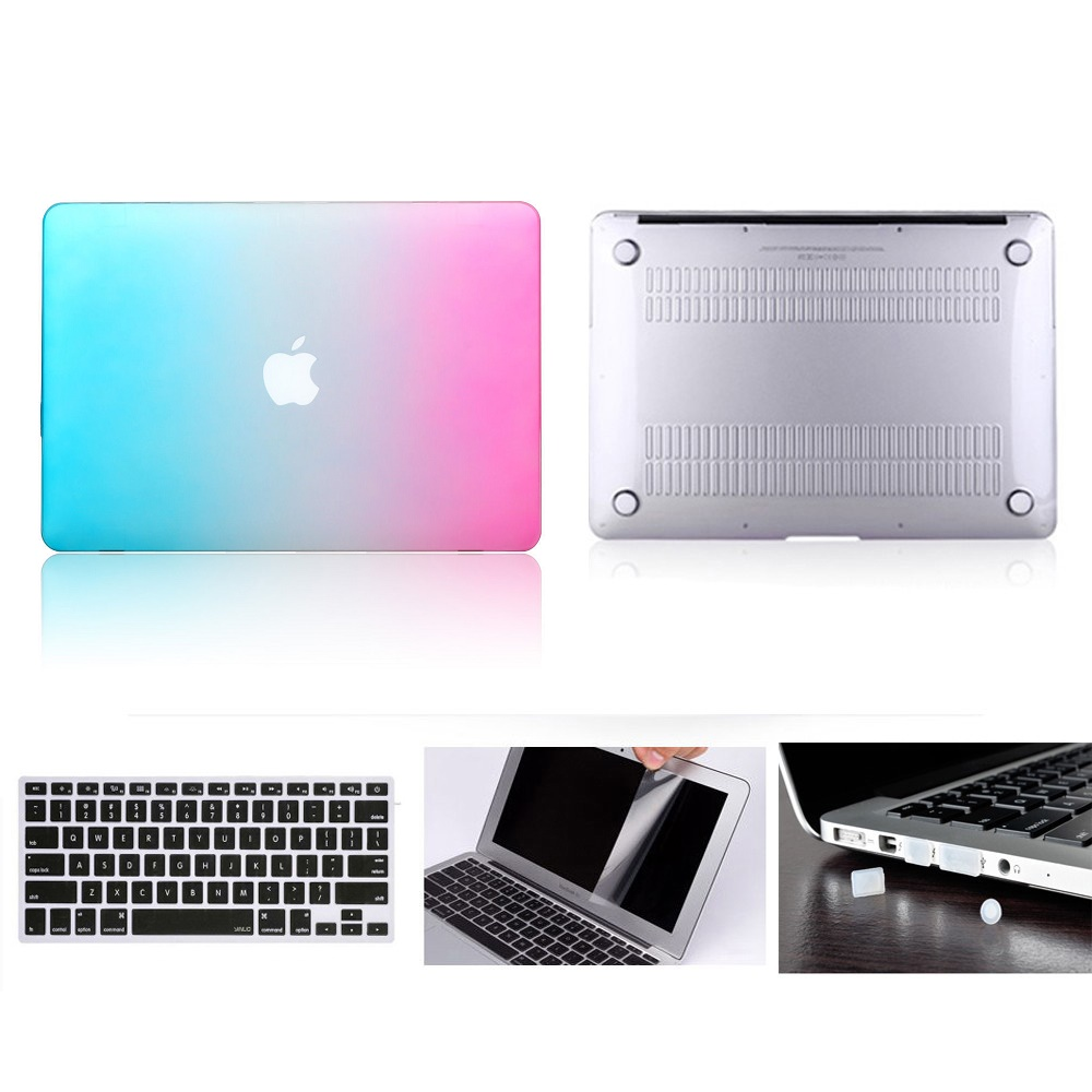 3in1 Crystal Hard Case Keyboard cover+Film For Macbook PRO13//15Air11//13 Retina12