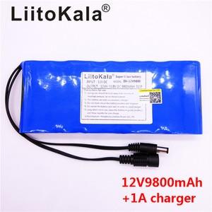 Image 4 - HK LiitoKala 12V 9800mAh 18650 DC 12V 12.6V Super Rechargeable Pack EU/US plug adaptor for CCTV camera video Battery Portable
