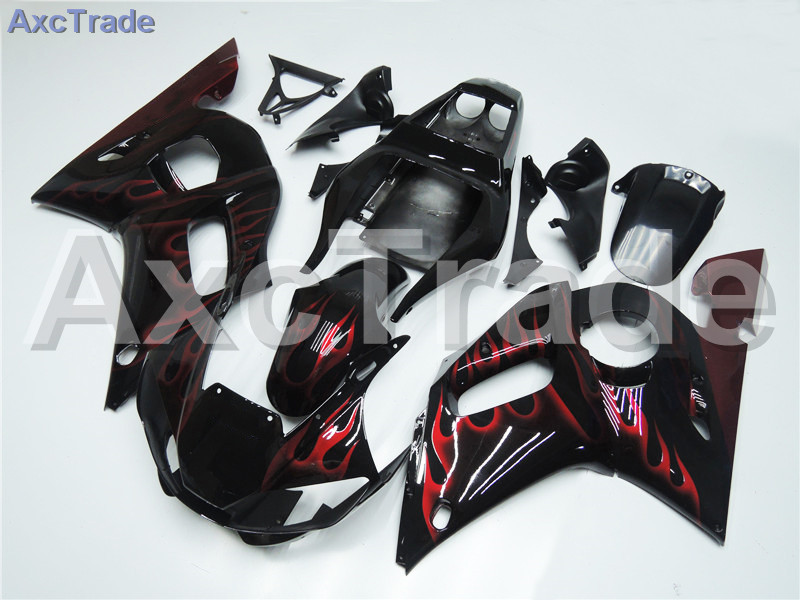 Motorcycle Fairings Kits For Yamaha YZF600 YZF 600 R6 YZF-R6 1998-2002 98 - 02 ABS Injection Fairing Bodywork Kit Black A425 high quality abs fairing kit for yamaha r6 1998 1999 2000 2001 2002 yzf r6 yzf r6 98 02 yellow white black fairings set nx27