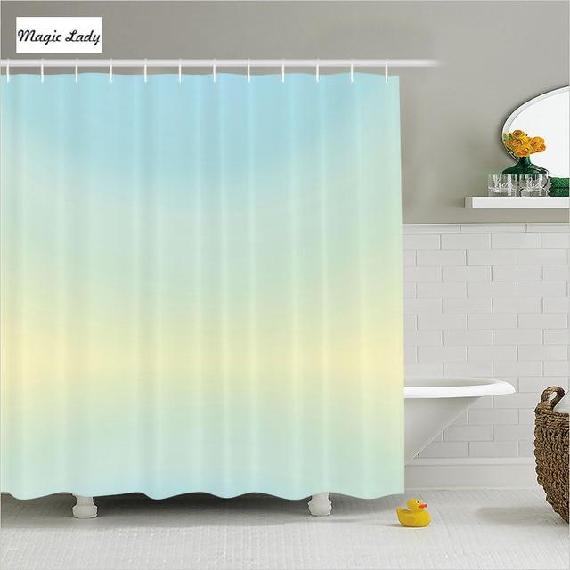 Shower Curtain Clip Bathroom Accessories Teal Decor Bright Light ...