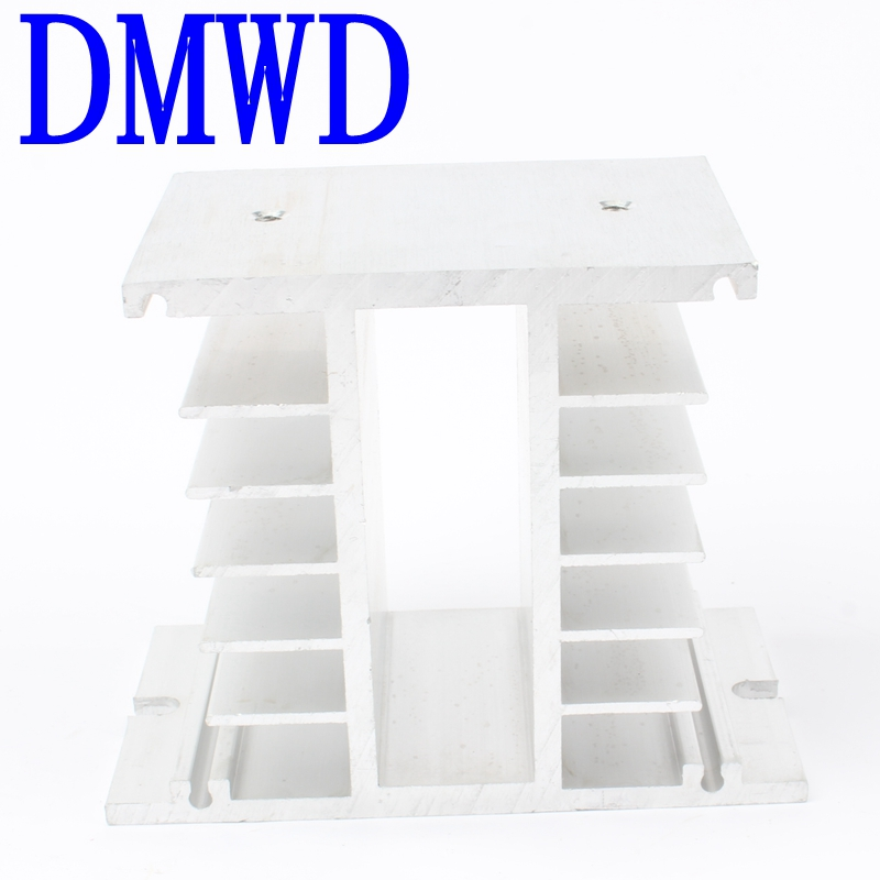TOP BRAND DMWD Solid state radiator ssr single phase solid state relay 50-100A 50A 60A 75A 80A 100A 125*50mm Aluminum Heat Sink 1pcs free shipping ssr soild state relay radiator radiator fin other spare parts mini
