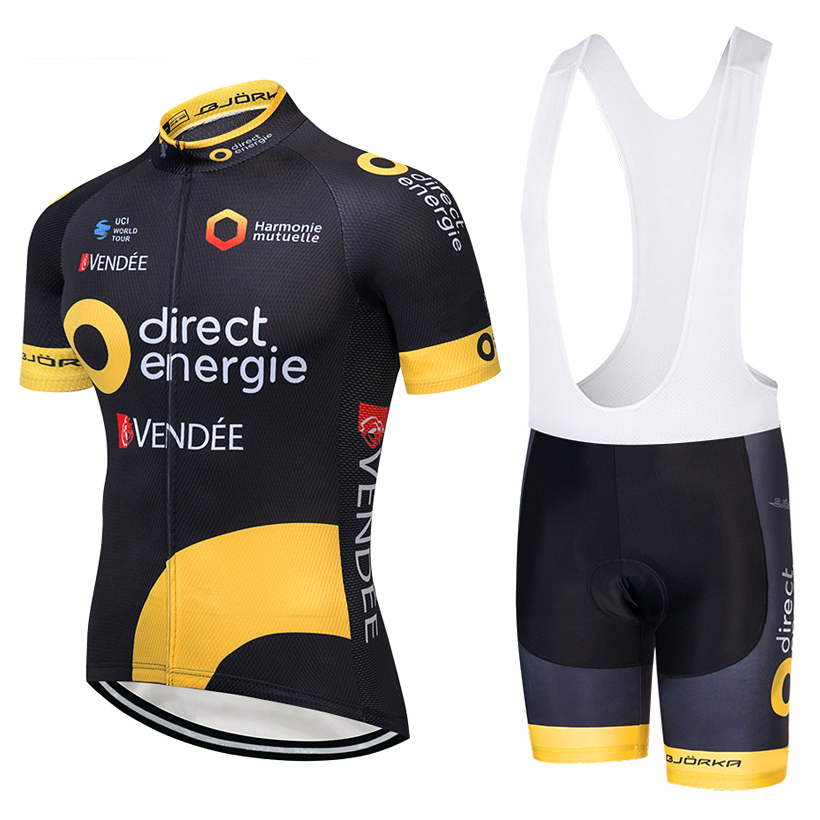 цена 2018 TEAM Direct Cycling jersey gel Pad bike shorts suit Ropa Ciclismo mens summer quick-dry PRO BICYCLING Maillot Culotte онлайн в 2017 году