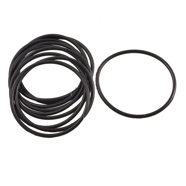 uxcell 10 Pcs Black Rubber O Ring Oil Sealing Gasket Washer 25mm x 22mm x 1.5mm