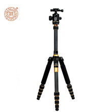 Professional Carbon Fiber Tripod Monopod Ball Head Tripod Portable Travel Photo Tripod for Digital SLR DSLR Camera Send by DHL