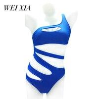 Christmas Gift WEIXIA 2017 Show Women Swimwear One Piece Swimsuit Brazilian Beach Wear