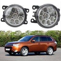 6000K CCC 12V Car Styling DRL Fog Lamps Lighting LED Lights For Mitsubishi L200 OUTLANDER 2