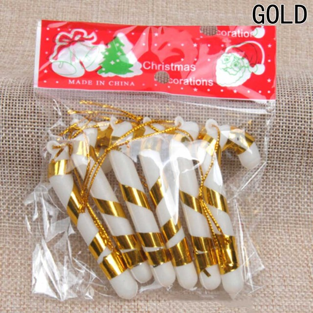 6 Pcs Christmas Candy Cane Ornaments Festival Party Xmas Tree Hanging Decoration Christmas Decoration Supplies 2