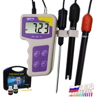 3 in 1 pH mV ORP Temperature Redox Meter, Removable Electrode Portable Water Quality Tester Thermometer Analysis Analyzer