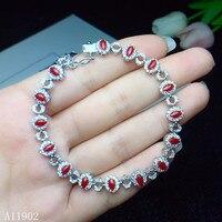 KJJEAXCMY ювелирные украшения 925 с инкрустацией, из чистого серебра натуральный драгоценный камень красный коралл дамы браслет поддержка инспе