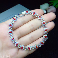 KJJEAXCMY fine jewelry 925 sterling silver inlaid natural gemstone red coral ladies bracelet support inspection