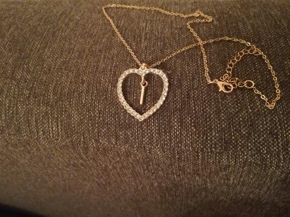 21daf8b3d 2018 Simple gold Color love heart necklaces & pendants double ...