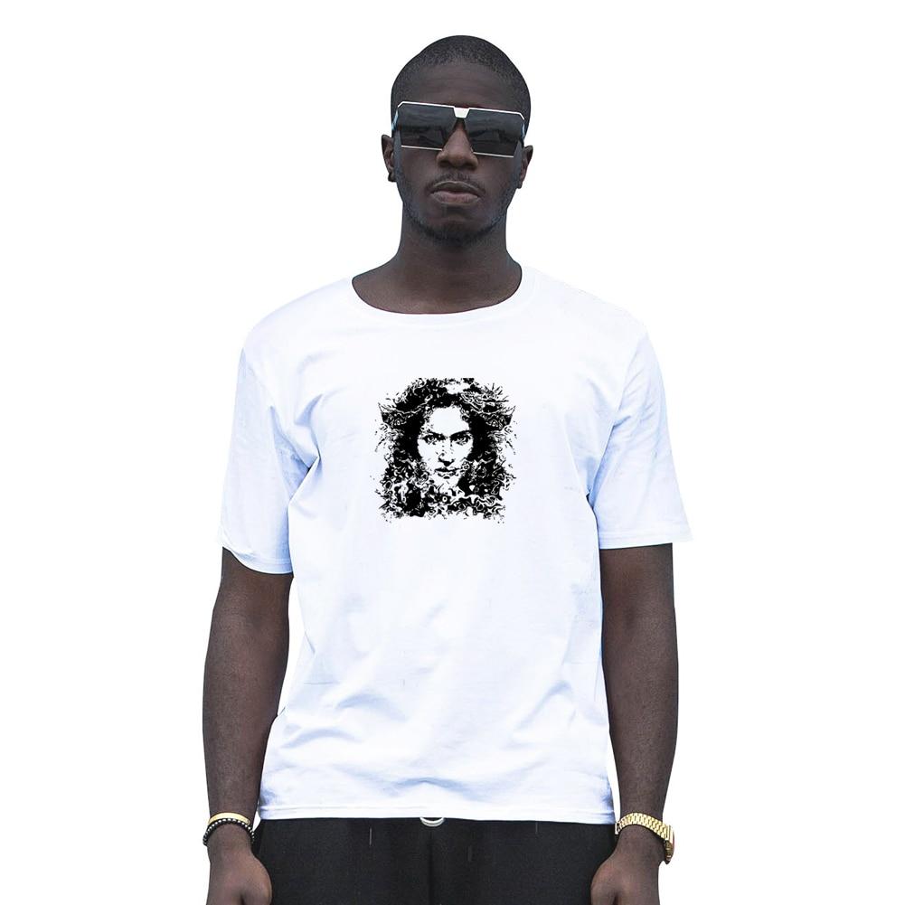 Летние Мода Для мужчин Красота Уход за кожей лица пара влюбленных соответствующие футболки Круглый Средства ухода за кожей шеи Tee