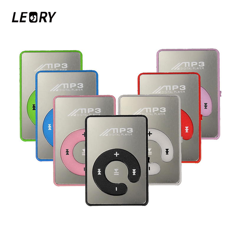 LEORY Protable Mini Mp3 Music Player Mp3 Player Support Micro TFCard Slot USB MP3 Sport Player USB Port With Earphone For Iphone