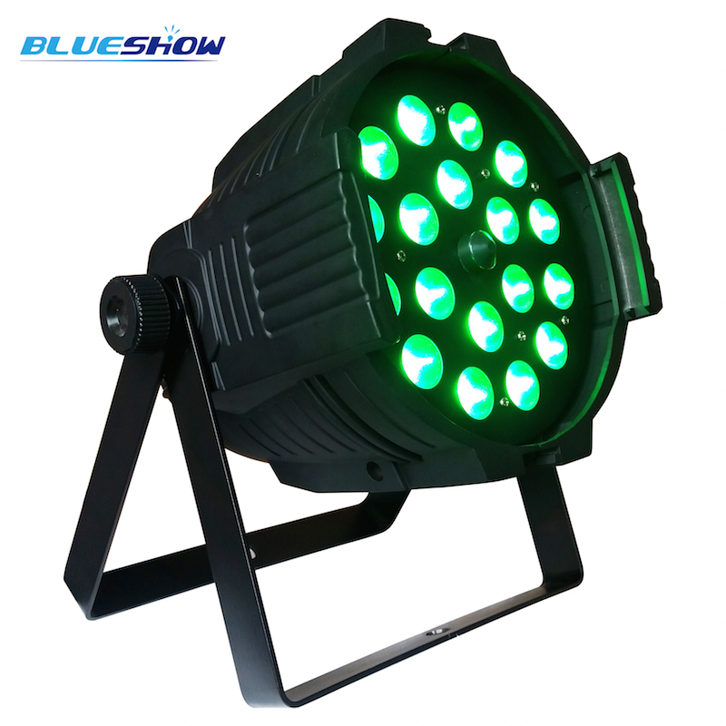 zoom par 18x15w rgbwauv 6in1 led par light