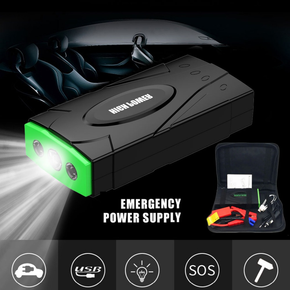 High Power Multi Function Car Jumper Starter Emergency 12V Car Charger For Battery Booster Buster Auto