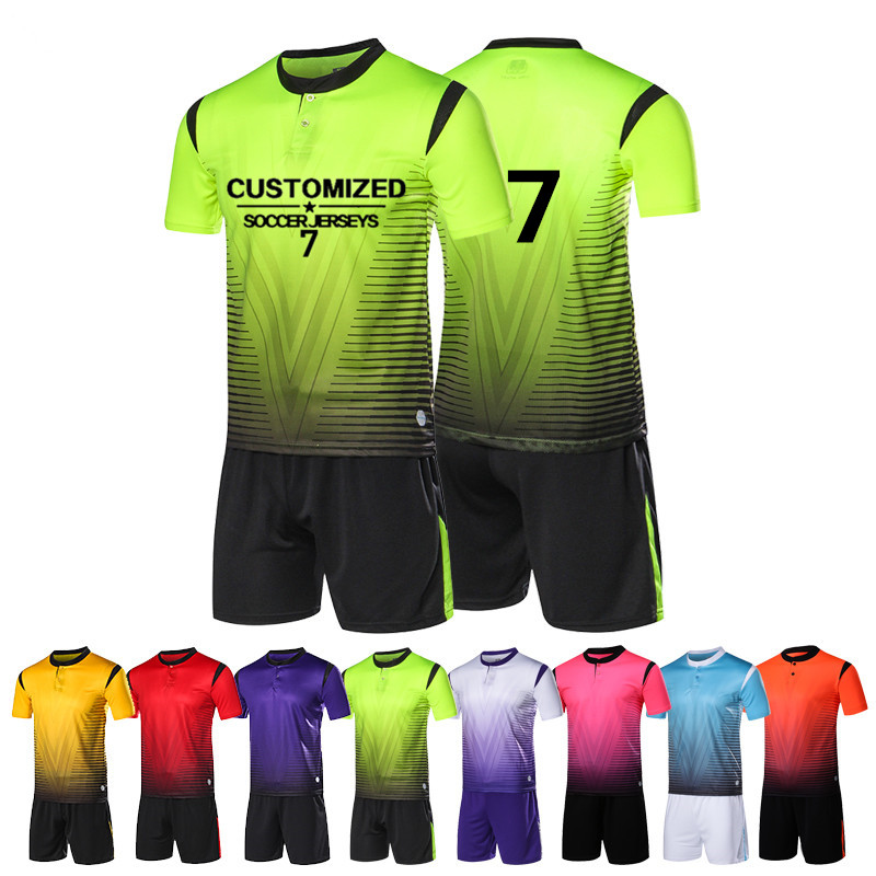 d646e65e2 Adult Soccer Jerseys Men Football Uniforms Shirts Sport Kit Training Suit  Breathable Soccer sets Custom Pinting Team Name Logo-in Soccer Sets from  Sports ...