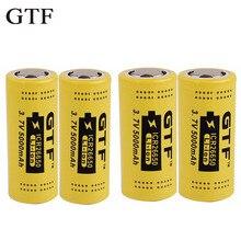 GTF 4 pcs Original 26650 Lithium 5000 mAh Rechargeable li-on Battery for Electronic Cigarette VS 18650 Batteries