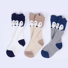 2019 Newborn Infant Baby Fox Long Socks Cute Cartoon Cotton Casual Warm Toddler Kids Sock Child Gifts Fashion New Sale 0-4T(China)