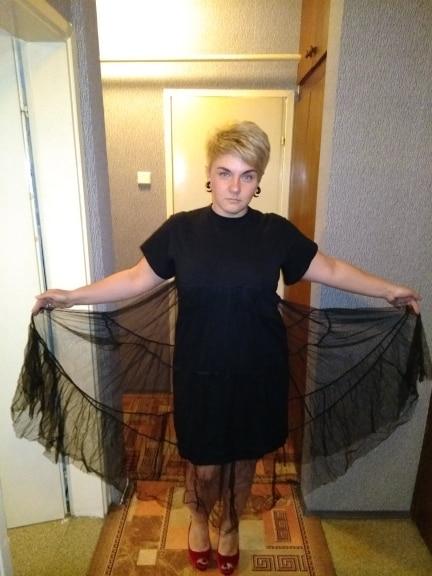 Summer New Fashion Large Size Black Stitching Net Yarn Round Collar Short Sleeve Size Loose Dress Women photo review