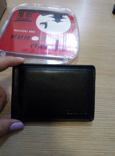 Top Quality Simple Style Money Clip Wallet with Coin Pocket Leather Clamp for Money Crad Holder Leather Purse for Men Gift photo review