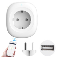 LonSonHo Wifi Smart Socket EU AC Power Plug USB Timer Wireless Smart Home Automation Modules Compatible