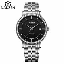 NAKZEN Men Business käekell Brändi luksus Diamond Watch Automaatne mehaaniline Meeste Kellad Relogio Masculino Miyota 9015