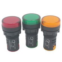 22 мм светодиодный свет лампы индикаторы лампочкой на панели Короткие светло AD16-22ds 6 В 12 В 24 В 36 В 48 В 110 В 220 В 380 В цвет красный, желтый зеленый