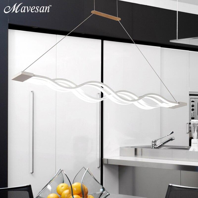Creative modern LED pendant lights Kitchen Acrylic+Metal suspension hanging ceiling lamp for dinning room lamparas colgantes