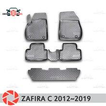 Коврики для Opel Zafira C 2012 ~ 2019 ковры Нескользящие полиуретановые грязи защиты подкладке автомобиля средства укладки волос