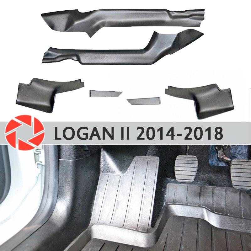 Bekleding Tapijt Innerlijke Deur Sil Voor Renault Logan 2014-2018 Sill Stap Plaat Trim Bescherming Tapijt Accessoires Auto Styling decor