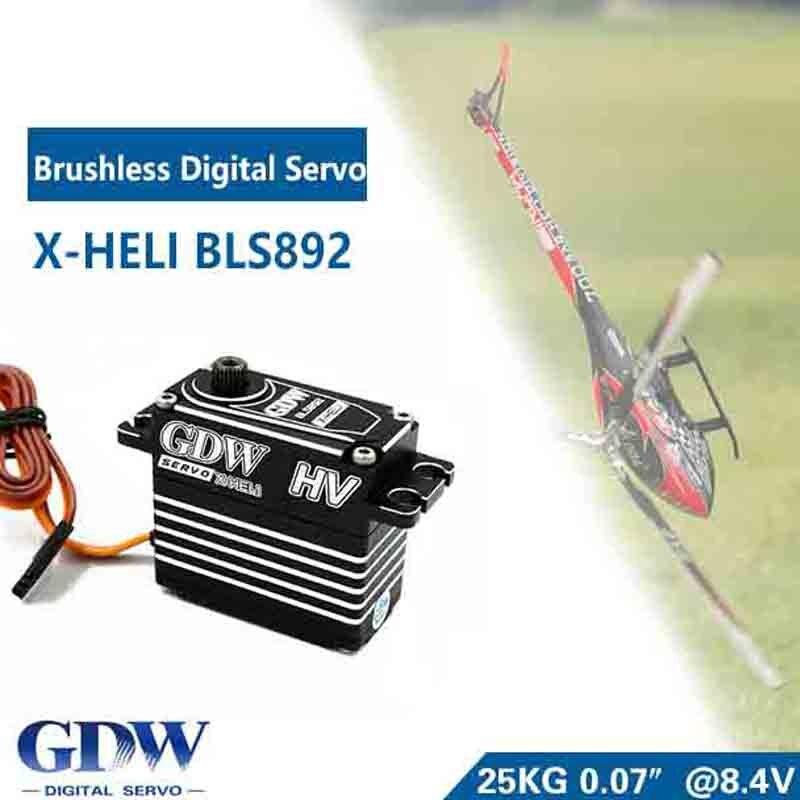 Oyuncaklar ve Hobi Ürünleri'ten Parçalar ve Aksesuarlar'de HV Fırçasız Servo Standart Servolar GDW BLS892 700 Helikopter için X7 KDS7.2 SAB700'da  Grup 1