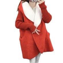 New Jacket Women Fashion Spring Slim Coat Windbreaker Thick cashmere hooded coat in Jacket Women Outwear Women's Clothing
