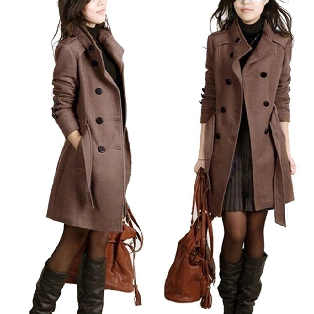 Winter Women Coat Long Slim Casual Warm Fashion Windbreaker Outerwear Jacket