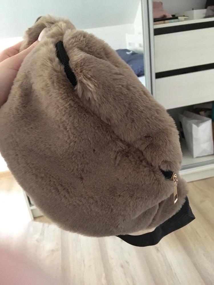 Faux Rabbit Fur Fanny Pack Women Plush Waist Bag Men Winter Bum Bag Female Travel Bum Hip Coins Phone Pouch Casual Chest Bag photo review
