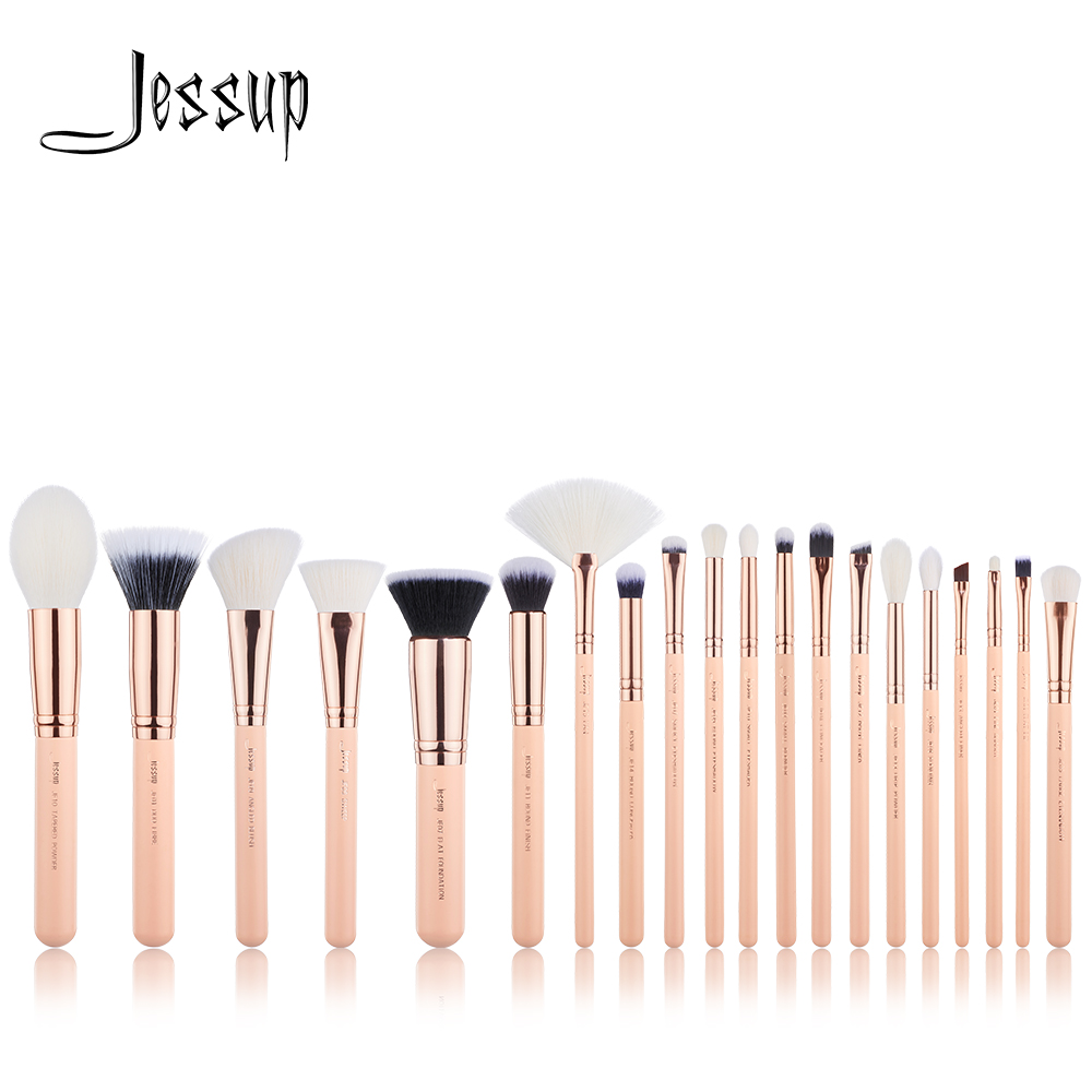 NEW Jessup brushes 20PCS Professional Makeup brushes set Cosmetic tools Make up brush POWDER FOUNDATION LIP CONCEALER new oval makeup brush set professional concealer foundation powder blending brushes toothbrush make up tools